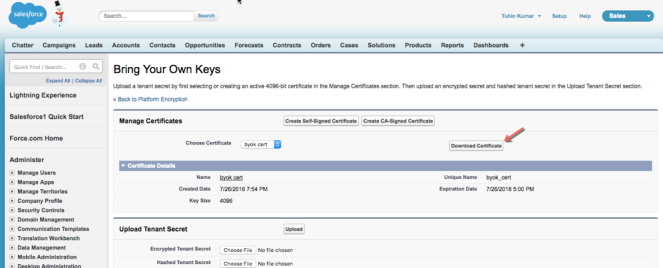 Salesforce Shield with AWS- KMS – Security & Stuff